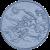 VÍLA - Kruhová předložka ø 80 cm, šedá