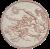 VÍLA - Kruhová předložka ø 80 cm, béžová